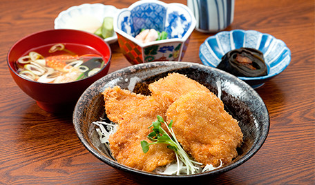 A pork cutlet with sauce in a bowl, Niigata's local dish